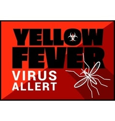 Yellow fewer virus allert outline vector