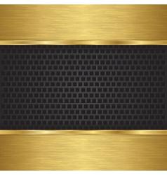 Abstract golden background with metallic speaker g vector image vector image