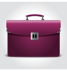 Business briefcase isolated on blue background vector image vector image