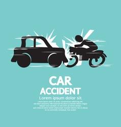 Car Crash With Motorcycle vector image vector image