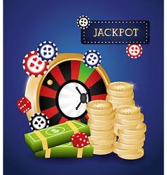 Casino design vector image vector image