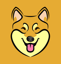 happy dog face vector image vector image