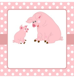 Pigs Card vector image