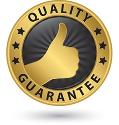Quality guarantee golden label vector image vector image