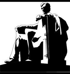 Statue of Abraham Lincoln vector image
