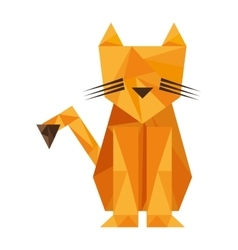 tiger animal silhouette low poly icon vector image