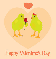 two chickens in love vector image vector image