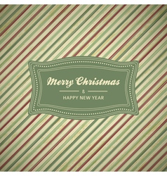 Vintage christmas card background vector