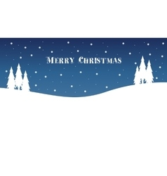 Winter landscape at night Christmas vector image vector image
