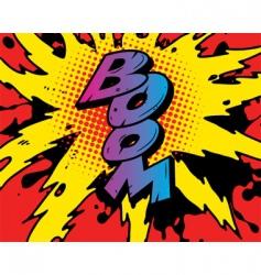 comic boom vector image vector image