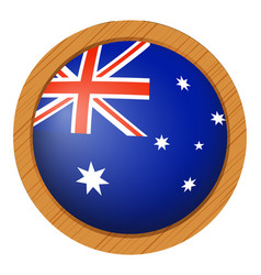 flag icon design for australia vector image vector image
