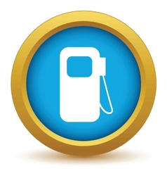 Gold gas station icon vector image