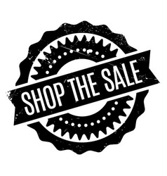 shop the sale rubber stamp vector image vector image