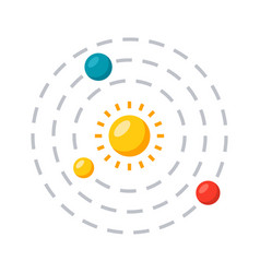 solar system icon vector image
