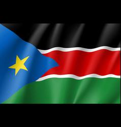 south sudan flag vector image