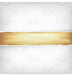 vintage background with golden ribbon vector image vector image