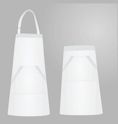 white apron front and back view vector image