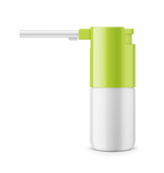 white glossy oral spray bottle vector image