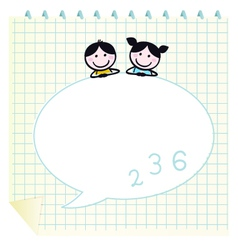 cute doodle kids vector image vector image