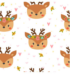 cute seamless pattern for children with funny vector image vector image