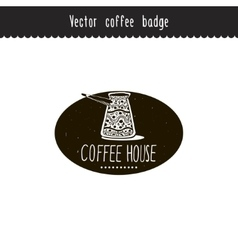 Hand drawn coffee brand design element vector image vector image