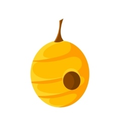 Hanging Round Beehive Natural Honey Production vector image vector image