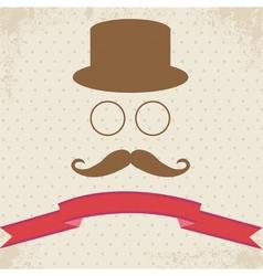 Hipster on Dot Vintage Background vector image vector image