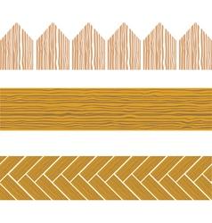 seamless wood border vector image vector image