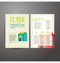 Abstract Brochure Flyer design about hous vector
