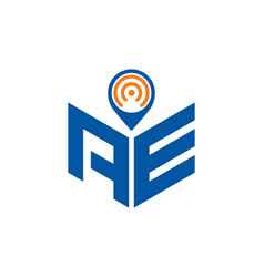 Abstract polygonal ae logo ae letter logo vector