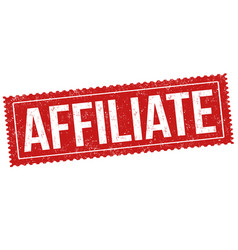 Affiliate sign or stamp vector