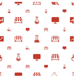 Analysis icons pattern seamless white background vector