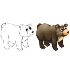 Animal outline for cute bear vector