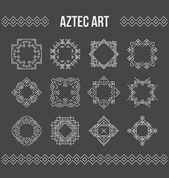 Aztec Frames and Icons vector image