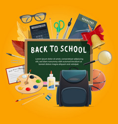 back to school poster for education themes design vector image