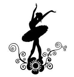 Ballet abstract design vector