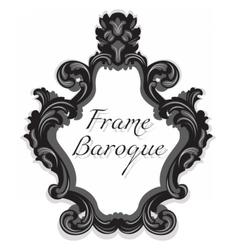 Baroque Rococo Mirror frame set vector image