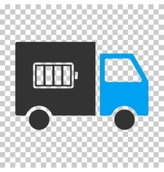 Battery Delivery Truck Eps Icon vector image