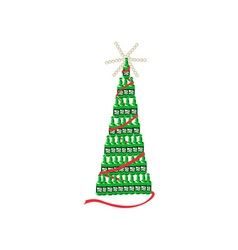 Beer Bottle Christmas Tree Retro vector