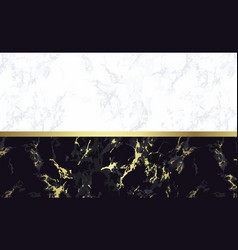 Black and white marble background with gold vector