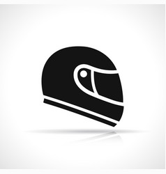 black moto helmet icon vector image