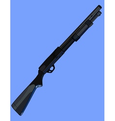 Black painted shotgun on the side vector