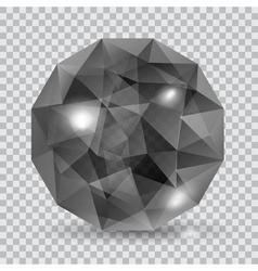 Black translucent crystal vector