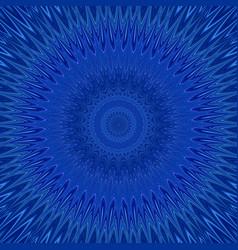 Blue mandala explosion fractal background - round vector