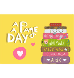 Books and pages fun literature design vector
