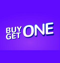 buy 1 get 1 free sale poster banner design vector image