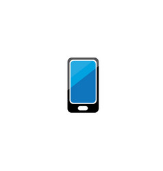 cell phone with a blue screen for logo design vector image