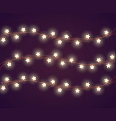 christmas lights for decoration vector image