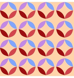 Circle pattern colored background vector image