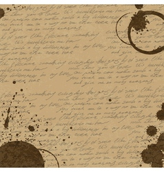 Coffee rings on manuscript background vector